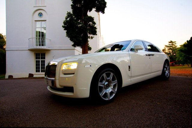 White Rolls Royce Ghost Available for Hire - The Ultimate Way To Travel In Luxury - Available from Kudos Cars