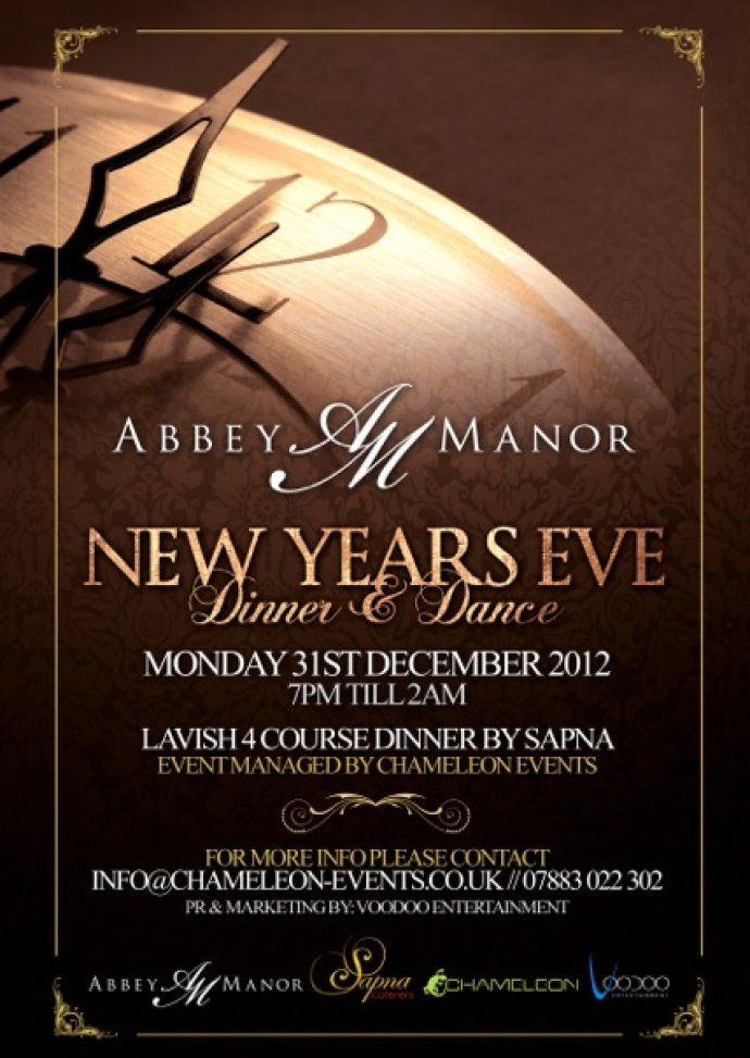 Kudos Music Alongside Sapna Caterers, B4U & Chameleon Events gear up for New Years Eve at the Abbey Manor