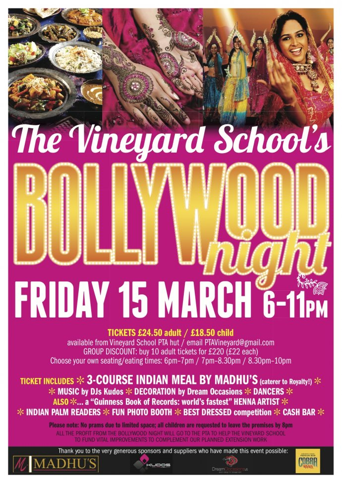 Kudos Music at the Vineyard school Bollywood night