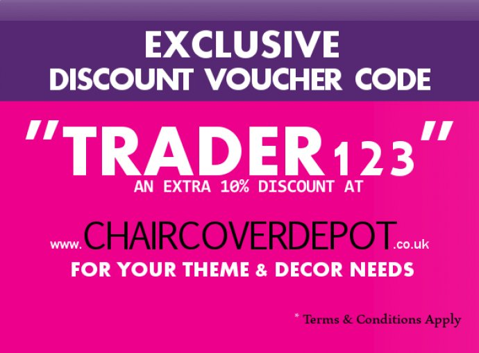Discount Voucher Code 'TRADER123' Chair Cover Depot