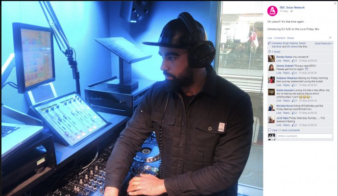 AJD Goes live in the mix for Tommy Sandhu at the BBC Asian Network