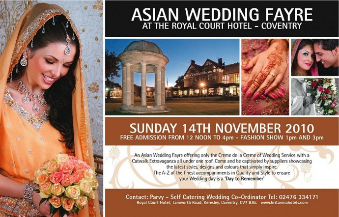 Asian Wedding Fayre At Royal Court Coventry 14th Nov