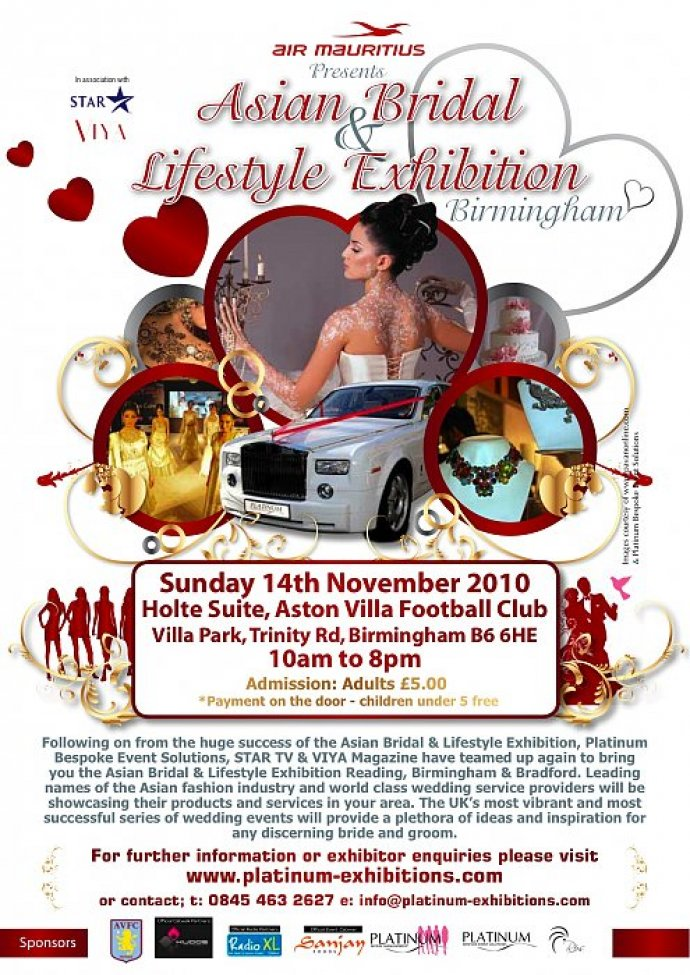 Asian Bridal And Lifestyle Exhibition At Aston Villa